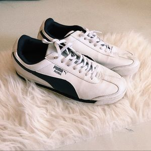 Puma Roma Navy Tennis Shoes
